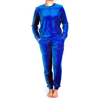 """Костюм (велюр) ТМ """"Ярослав"""" м.Ф-185/1 (джемпер с брюками) синий"""