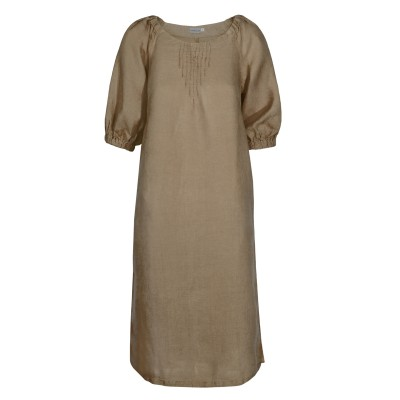 Платье лен ТМ «Ярослав» м.Ф-290 коричневое