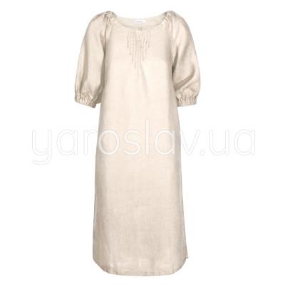 Сукня льон ТМ «Ярослав» м.Ф-290 молочне