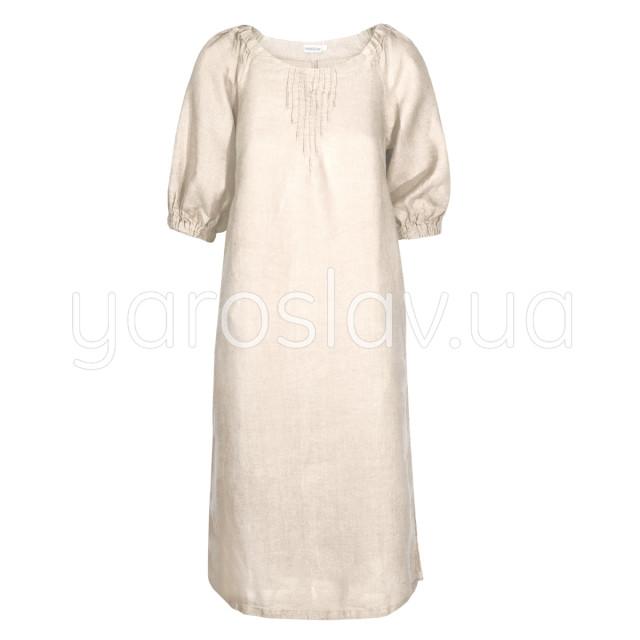 Платье лен ТМ «Ярослав» м.Ф-290 молочное