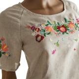 Блуза льняная с вышивкой м.967 цветочки