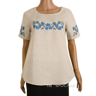 Блуза льняная с вышивкой м.967