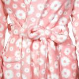 Халат флисовый ТМ ''Ярослав'' м.Ф-101 кораловые цветы