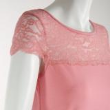 Ночная рубашка (кулир с эластаном) м.Ф-124 светло-розовая