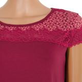 Ночная рубашка (кулир с эластаном) м.Ф-124 вишневая