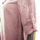 Платье лен ТМ «Ярослав» м.Ф-148 светло-розовое