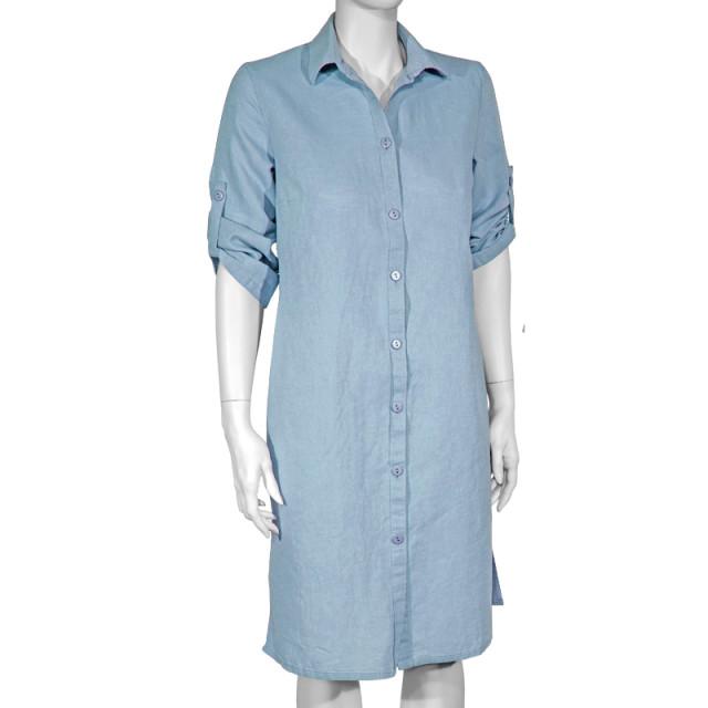 Платье лен ТМ «Ярослав» м.Ф-148 голубое