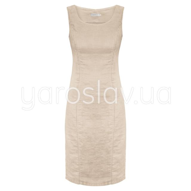 Платье лен ТМ «Ярослав» м.Ф-171 молочное