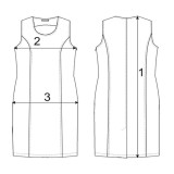 Платье лен ТМ «Ярослав» м.Ф-171 серое
