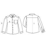 Рубашка мужская (фланель ) м.Ф-139 зеленая