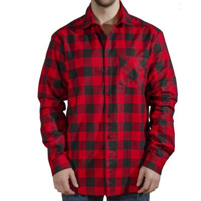 Рубашка мужская (фланель ) м.Ф-139 красная