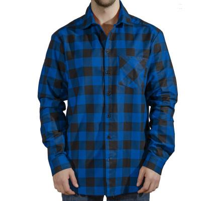 Сорочка чоловіча (фланель) м.Ф-139 синя