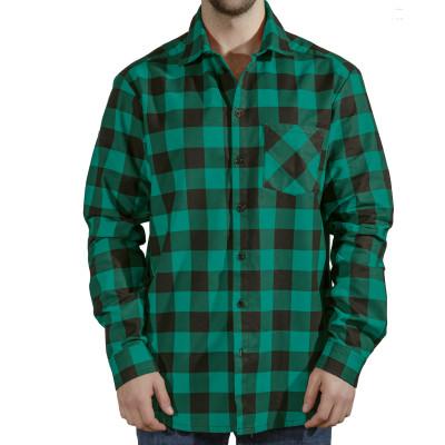 Сорочка чоловіча (фланель) м.Ф-139 зелена