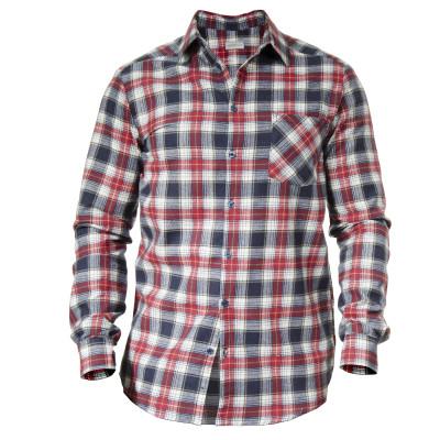 Рубашка мужская (фланель ) м.Ф-139 красно-синяя