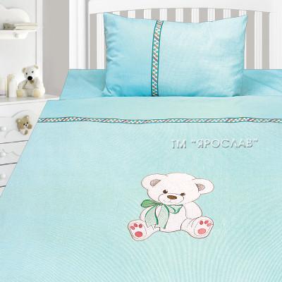 Комплект постельного белья, детский, Бязь с вышивкой dv26d