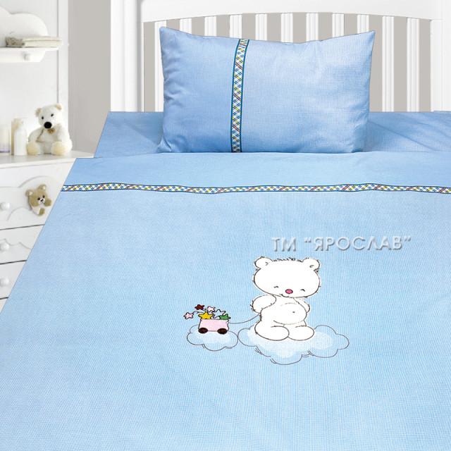 Комплект постельного белья, детский, Бязь с вышивкой dv31a