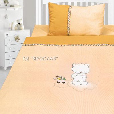 Комплект постельного белья, детский, Бязь с вышивкой dv31t