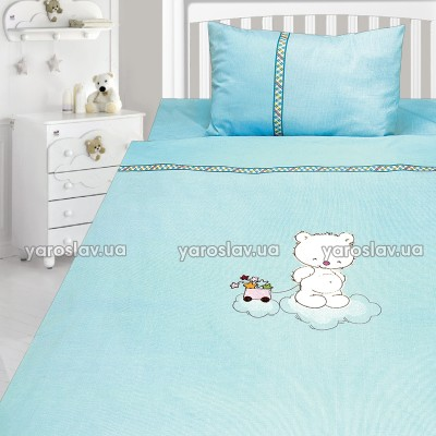 Комплект постельного белья, детский, Бязь с вышивкой dv31v