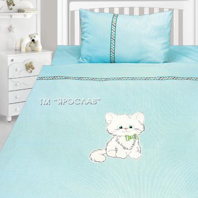 Комплект постельного белья, детский, Бязь с вышивкой dv40а