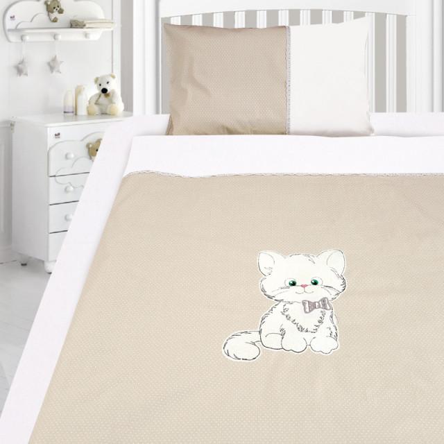 Комплект постельного белья, детский, Бязь с вышивкой dv40g