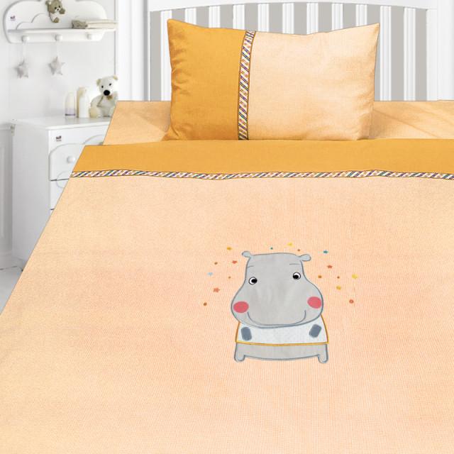 Комплект постельного белья, детский, Бязь с вышивкой dv46c