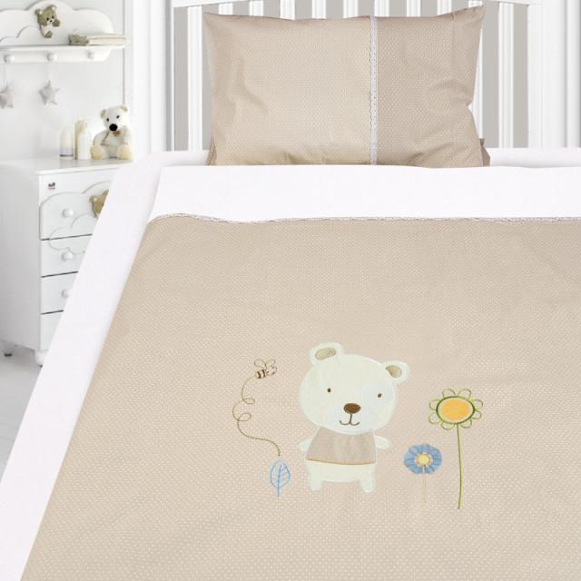 Комплект постельного белья, детский, Бязь с вышивкой dv48