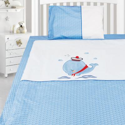 Комплект постельного белья, детский, Бязь с вышивкой dv51