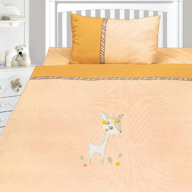 Комплект постельного белья, детский, Бязь с вышивкой dv53b