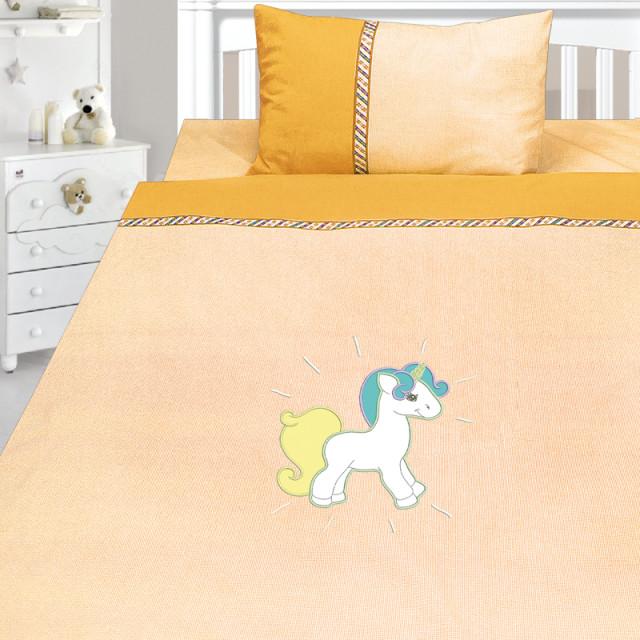 Комплект постельного белья, детский, Бязь с вышивкой dv54b