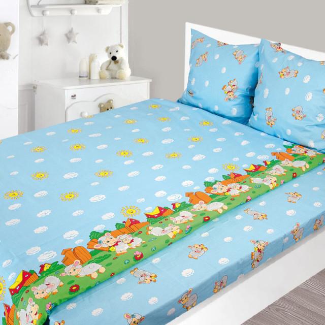 Комплект постельного белья, детский, Бязь pak1292