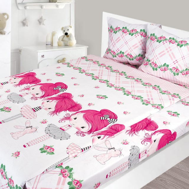 Комплект постельного белья, детский, Бязь tur171