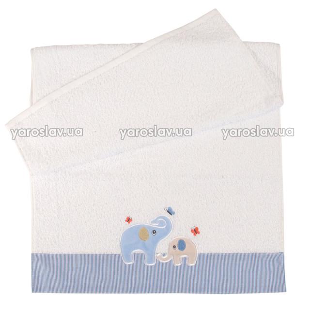 Полотенце махровое детское с отделкой
