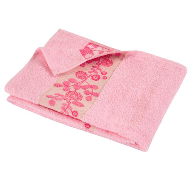 """Полотенце махровое """"Азалия"""" розовое"""