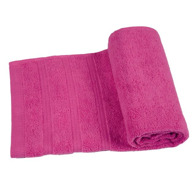 Полотенце махровое Софт-твист ТМ ''Ярослав''_темно-розовый