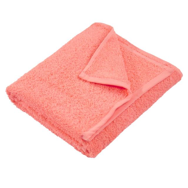 Полотенце махровое гладкокрашеное без бордюра (400 г/м2) коралловое