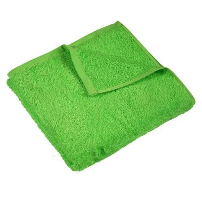 Рушник махровий гладкофарбований без бордюру (400 г/м2) зелений