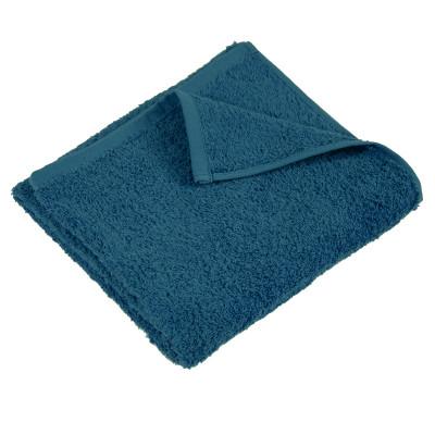 Полотенце махровое гладкокрашеное без бордюра (400 г/м2) лазурно-синее