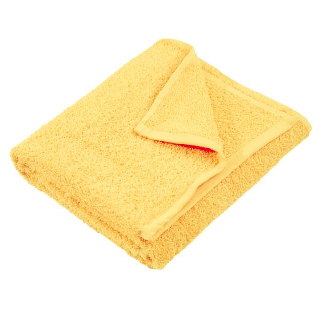 Полотенце махровое гладкокрашеное без бордюра (400 г/м2) желтое