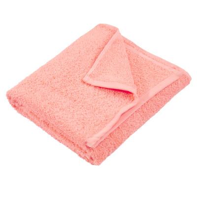 Полотенце махровое гладкокрашеное без бордюра (400 г/м2) персиковое