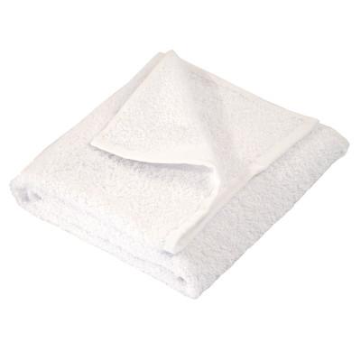 Полотенце махровое гладкокрашеное без бордюра (400 г/м2) белое