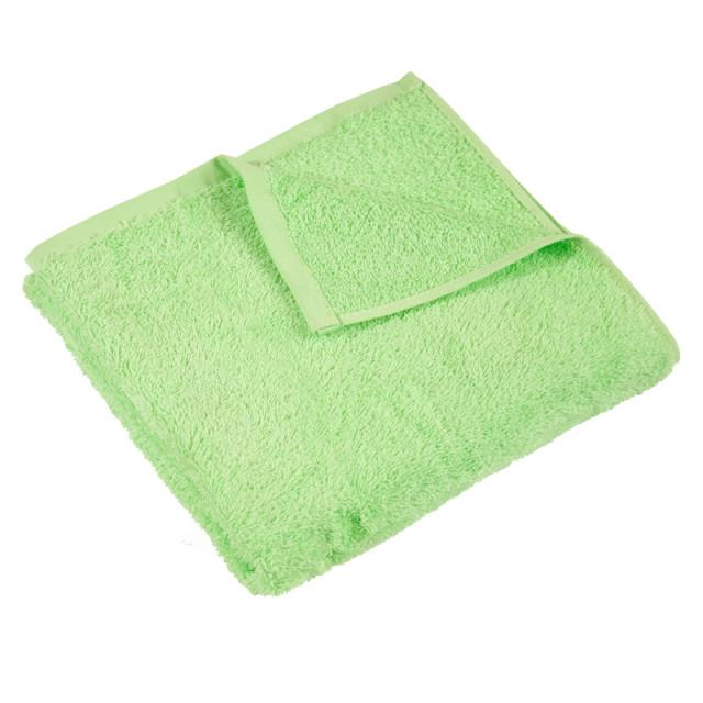 Полотенце махровое гладкокрашеное без бордюра (400 г/м2) салатовое