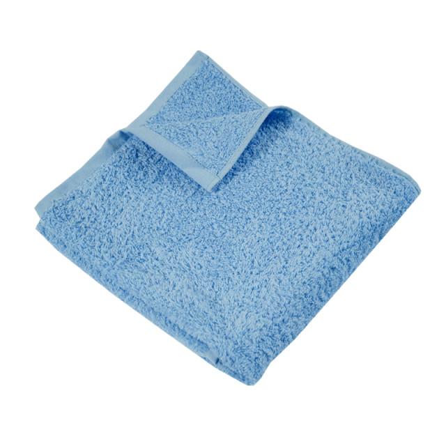 Полотенце махровое гладкокрашеное без бордюра (400 г/м2) голубое