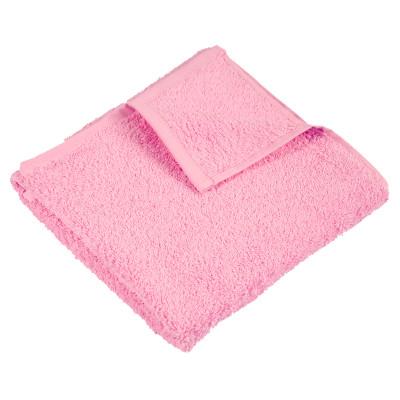 Рушник махровий гладкофарбований без бордюру (400 г/м2) рожевий