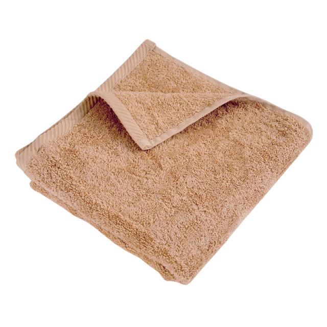 Полотенце махровое гладкокрашеное без бордюра (400 г/м2) бежевое