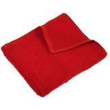 Полотенце махровое гладкокрашеное без бордюра (400 г/м2) красное