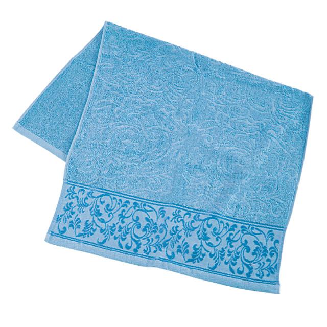 Полотенце махровое с отделкой ТМ ''Ярослав'' 10221 голубое