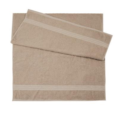 Полотенце махровое гладкокрашеное (400 г/м2) бежевое