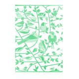 Одеяло из Хлопка Ярослав 3 птички на веточках зеленое