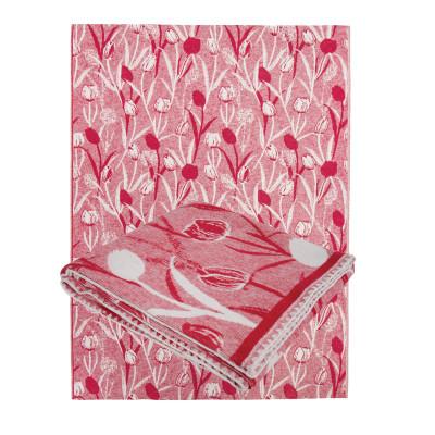 Одеяло из Хлопка Ярослав 2 тюльпаны красные