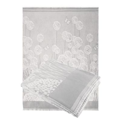 Одеяло из Хлопка Ярослав 5 одуванчики серые